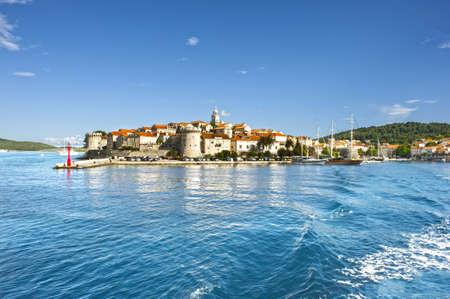 Town Korcula at Croatia - island