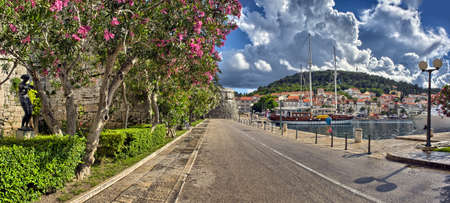 Town Korcula at Croatia - harbor photo