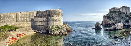 風光明媚な観港の要塞 - ドブロブニク, クロアチア