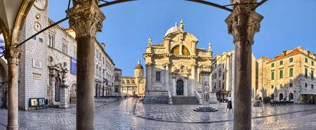 St Blaise セント Vlaha 教会は 18 世紀のバロック様式の教会ドゥブロヴニク, クロアチアです。 写真素材