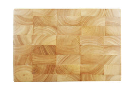 Wooden chopping board isolated on white.