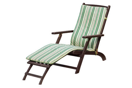 lounger: Wooden garden lounger