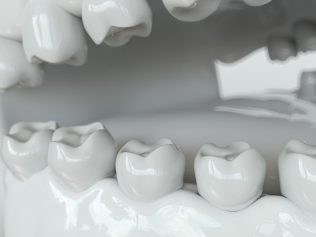 Bacteria and viruses around tooth 1 of 2 - 3D Rendering