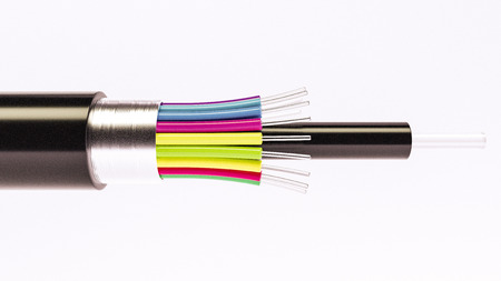 Fiber optical cable detail - Highspeed cable - 3D Rendering Stock Photo