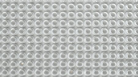 A large number of white cups on a white background - 3D rendering