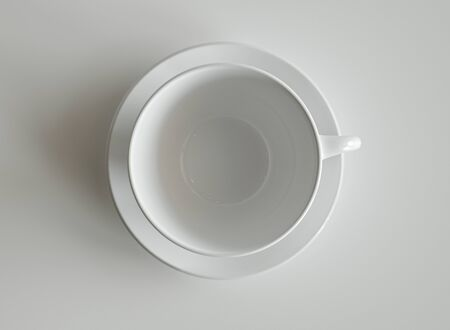 White cup on white background - 3D Rendering