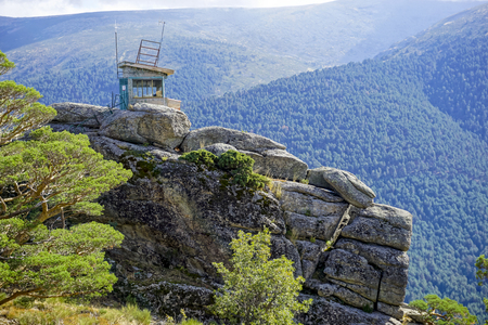 watchtower in the natural park of the Sierra de Guadarrama