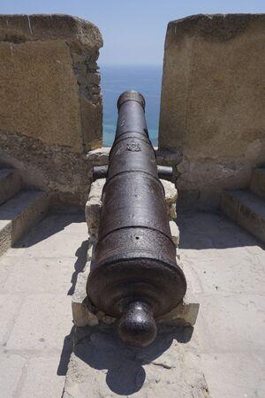 defense cannon of the castle of Santa Barbara in Alicante
