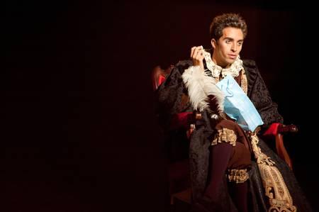 CANARY ISLANDS-OCTOBER 27: Mingo Arvila acting in Desmontando a Don Juan, based on Don Juan Tenorio written by Jose Zorrilla, October 27, 2011 in Canary Islands, Spain