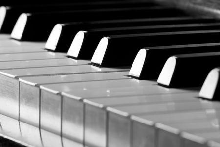 chorale: Piano key closeup