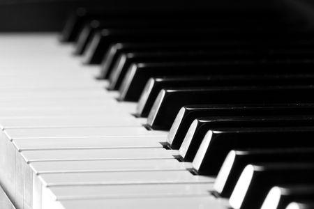 piano player: Piano key closeup