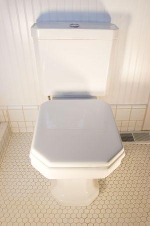 A simple white toilet Stock Photo - 485841