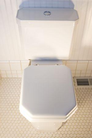 A simple white toilet Stock Photo - 485843
