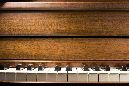 chorale: A close up of a piano Stock Photo
