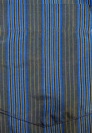 Blue striped fabric texture (Pocket) Stock Photo - 7320557