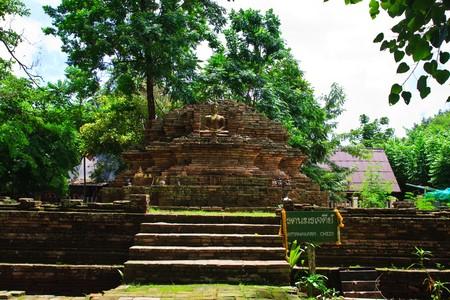 Ruin chedi in Chaing Mai photo