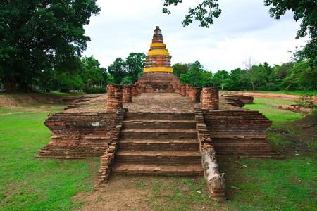 Giant ruin pagoda in Chiang Mai photo