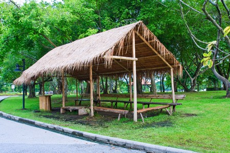 Rest hut from side Stock Photo - 7689914