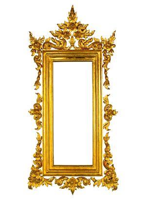 baroque border: Golden Thai sqaure frame