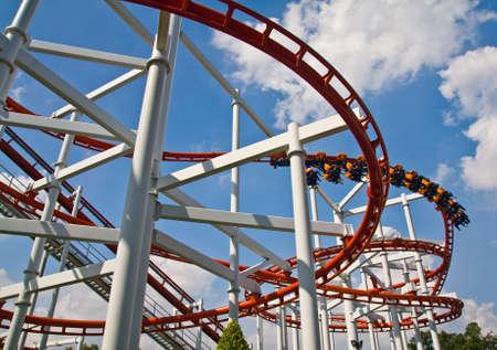 Roller coaster Standard-Bild