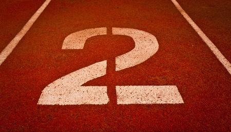 numbers abstract: N�mero dos de la competencia o la raza