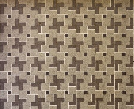 Beautiful brown tile texture pattern use for wall or floor Archivio Fotografico