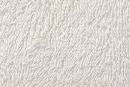 White soft towel texture background close up