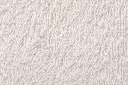 toalla: Fondo de blanco toalla suave textura de cerca Foto de archivo