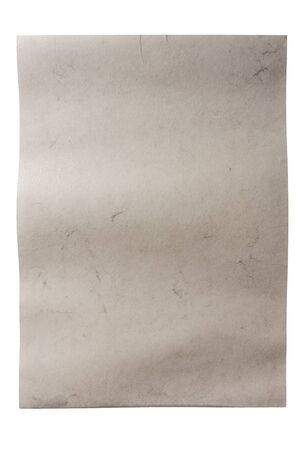 White wet rough paper texture background isolated on white background photo