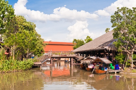 ayothaya: Boats in Ayothaya floating market onJuly 10 ,2011. Ayutthaya province Thailand.