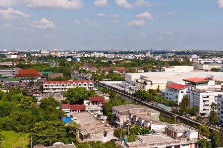 Bangkok cityscape near Saen Saeb canal