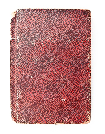 old red cover book isolated on white background photo