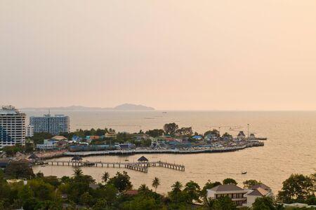sean: Bang sean spiaggia in Thailandia dall'alto Archivio Fotografico