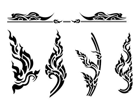 Thai style pattern Vector