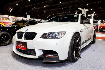 Nonthaburi, Thailand - June 22, 2013 : BMW M3 in Bangkok Auto Salon 2013 exhibition at  IMPACT Exhibition and Convention Center, June 22, 2013, Pak Kred, Nonthaburi, Thailand. Editorial
