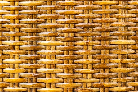 Seamless woven bamboo surface texture background photo