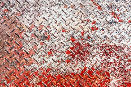 Red and white diamond pattern metal sheet surface seamless texture background Stock Photo - 21882600
