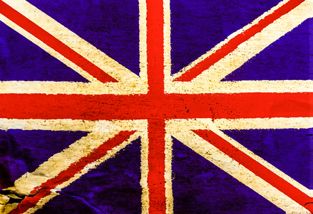 English flag on old brown paper texture seamless surface background photo