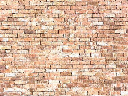 surface: Orange brick wall surface texture background