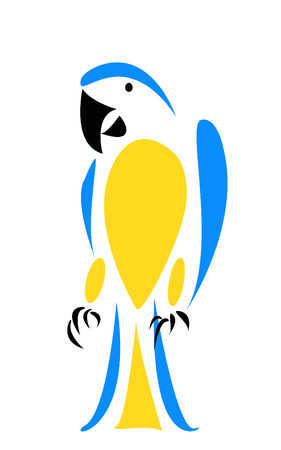 macaw: Blue macaw vector illustration