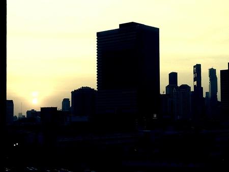 Bangkok Thailand cityscape in twilight time 写真素材