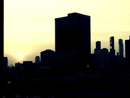 Bangkok Thailand cityscape in twilight time Banque d'images