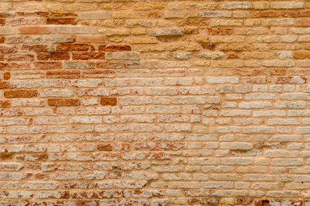 Old and damaged brown brick wall surface texture