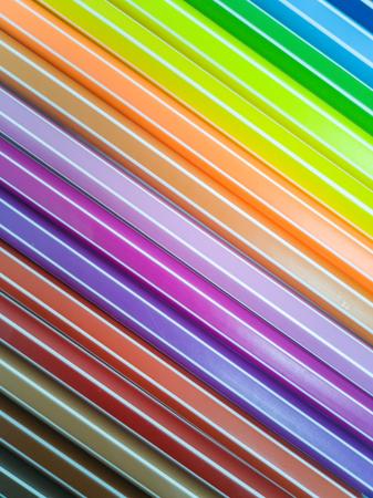 Set of colorful marker paint pen vibrant background