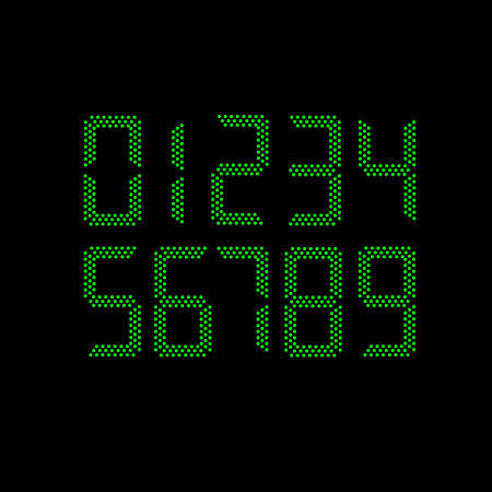 numbers: digital vector numbers