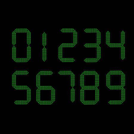 numbers: digital numbers vector
