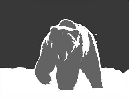 schematically: bear logo
