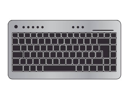 metalic keyboard vector