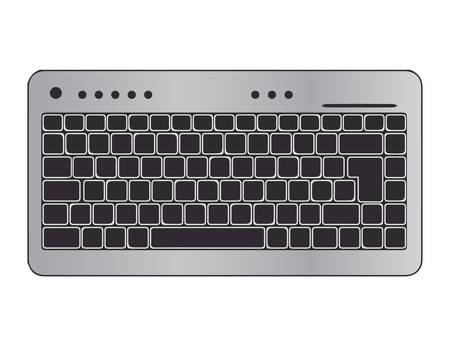 metalic: metalic keyboard vector