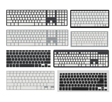 keyboard set vector
